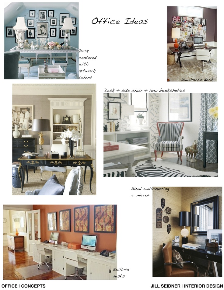 Concept Board For Home Office Jill Seidner Interior Design Concept Boards Pinterest
