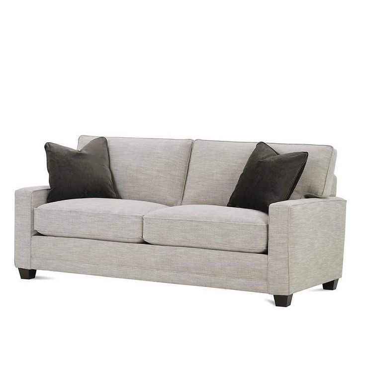 Awesome 2 Cushion Sofa With Feather Down Pillows