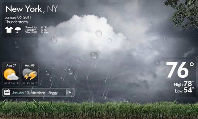 [iUXD]Weather Concept Motion. Weather Concept Motion for Navigation