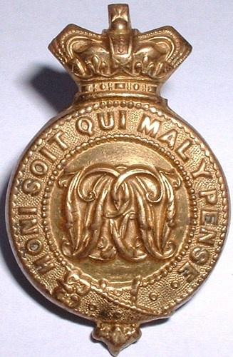 Rare Victorian 5th Dragoon Guards Princess of Wales Military Badge - No Reserve