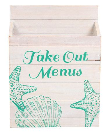 How cute is this for the beach house?! Starfish & Shell Take Out Menu Box
