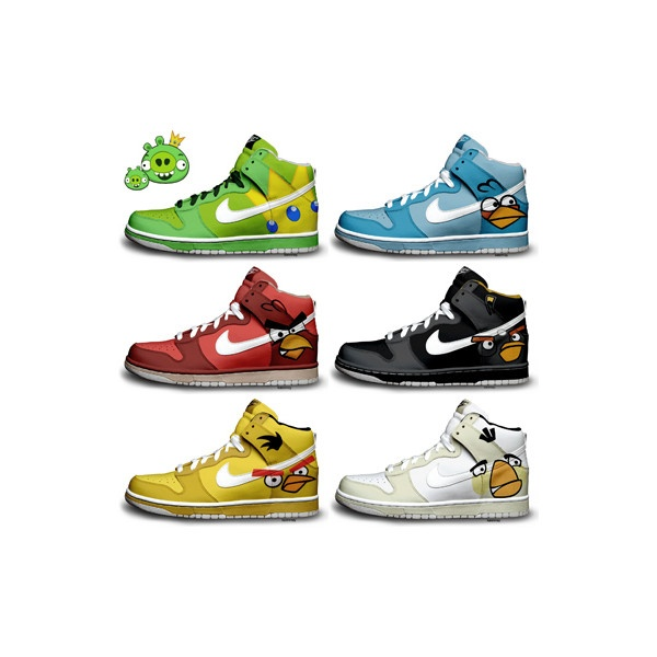 pretty nice 91fd0 4bdd4 ... Angry Birds Nikes Dunks Shoes Themed Shoes For Sale found on Polyvore   Stitch Nike Dunks by becauseimjay ... nike dunks toy story ...