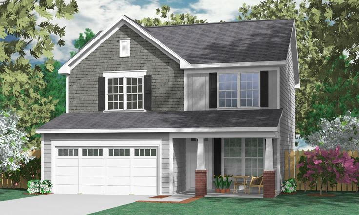 Best 164 two story house plans images on pinterest for Large garage plans with living space