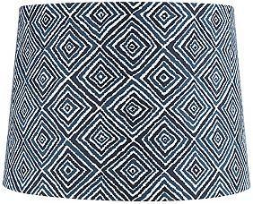 Blue and White Geometric 9 1/2-Inches-H Lamp Shade - euroshading