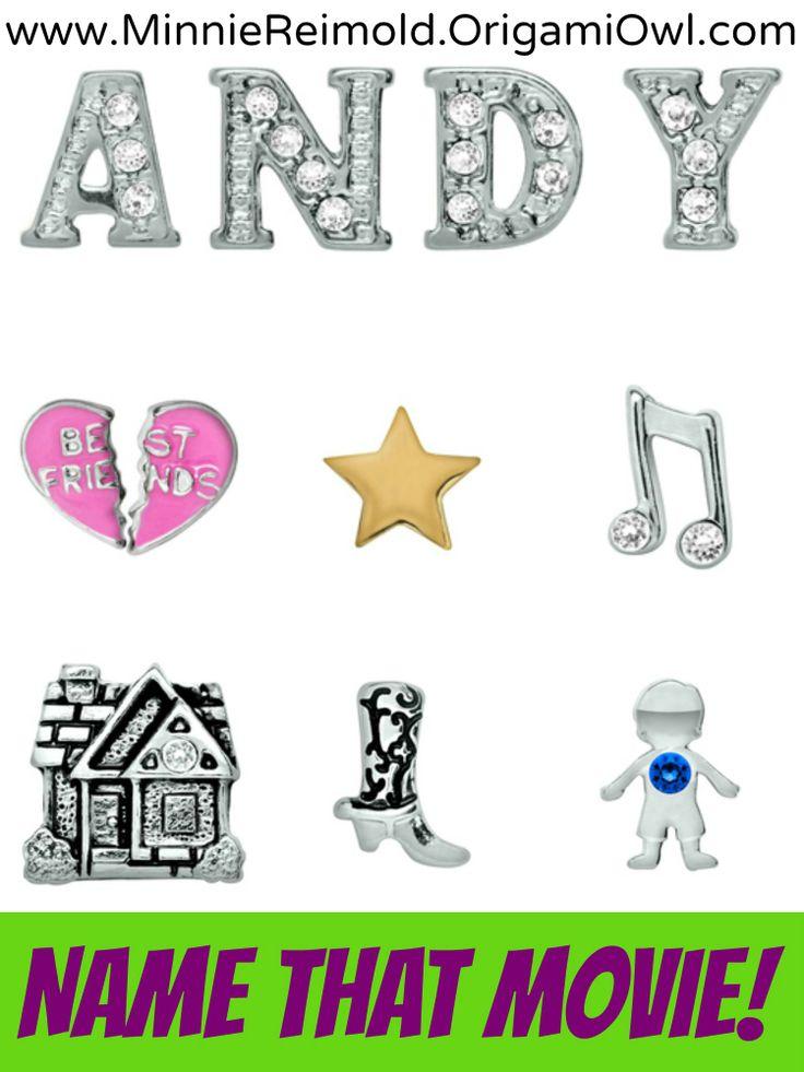 Origami Owl Name That Movie! game. Answer: Toy Story www.landshrabnicky.origamiowl.com