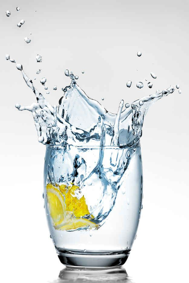"""Always drink a glass of water before eating."" 