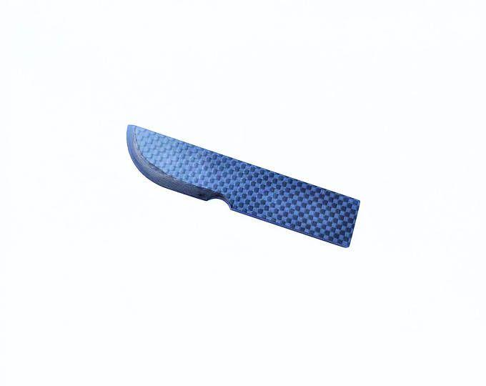 Litle droite couteau 100 % Pure fibre de carbone couteau brillant fini pleine fibre de carbone lame et le manche grand luxe cadeau Objet