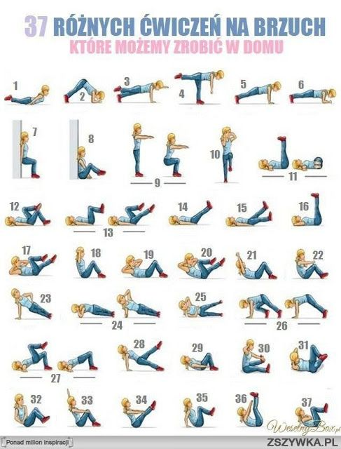 Ćwiczenia na brzuch, które można wykonywać w domu, bez konieczności posiadania dodatkowego sprzętu.