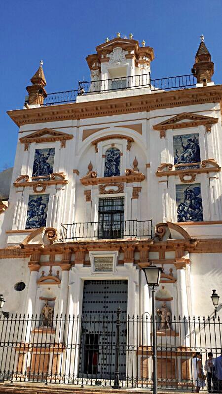 Iglesia del Señor San Jorge (Hermandad de la Santa Caridad). Sevilla. Su decoración interior fue diseñada por Miguel de Mañara, y en ella intervinieron artistas tan prestigiosos como Murillo, Valdés Leal.  #sevilla #sevillatours #walkingtours #andaluciatours #andalusiaguidedtours #privatetours