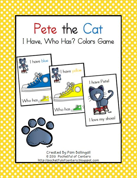 pete the cat colors game for large group activities pinterest