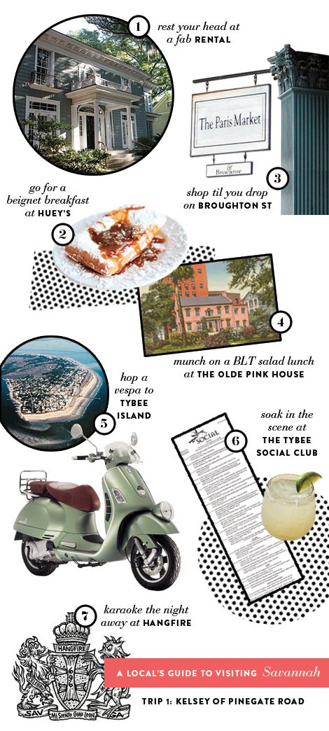 Someday I will make it back to Savannah, and when I do, I want to do all of these things.