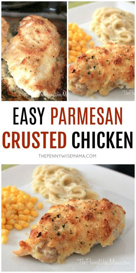 Easy Parmesan Crusted Chicken - yummy 20-minute dinner!