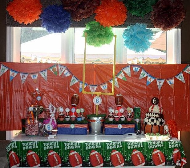81 best sports banquet ideas images on pinterest for Athletic banquet decoration ideas