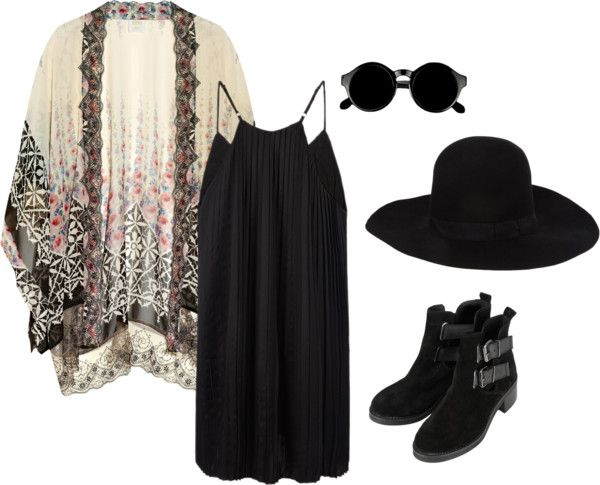"""dark hippy"" by raeshellia on Polyvore:"