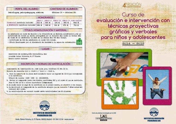 """Centro de formación El Nucleo: CURSO """"EVALUACIÓN E INTERVENCIÓN CON TÉCNICAS PROY..."""