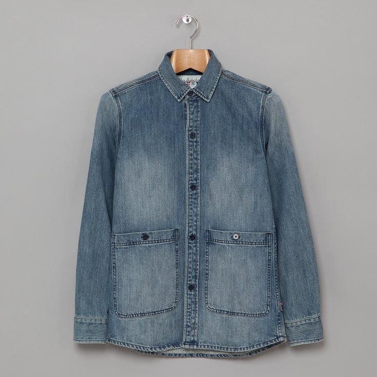 Han Kjøbenhavn Public Shirt Jacket in Wash Denim