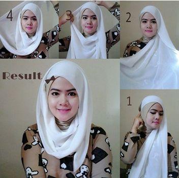 Ini Adalah Tutorial Hijab Segi Empat Simple Untuk Ke Pesta