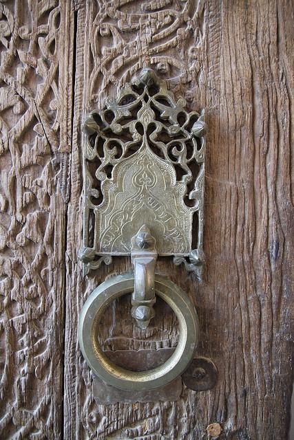 Door detail khiva uzbekistan doors portals hardware for Beautiful door handles