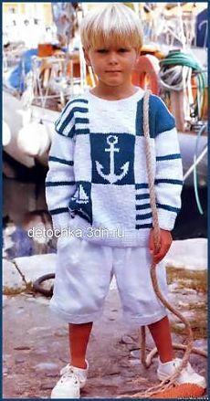 Вязание пуловеров для мальчиков - Вязание мальчикам - Вязание для малышей…