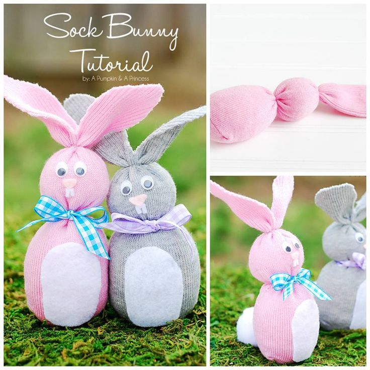 HOW TO MAKE A STUFFED BUNNY...using SOCKS! Such a cute ...