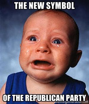 the new symbol of the republican party - Crying Baby | Meme Generator