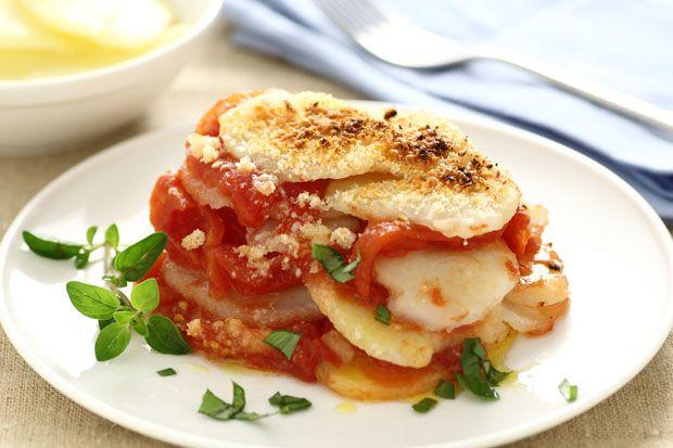 #Terrina mediterranea || #Cirio, gusta la nostra #ricetta. #recipe #potatoes #tomatoes #patate #contorno #food