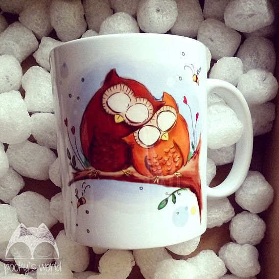 Mug with owls by Pookysworld on Etsy