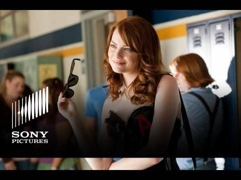 Easy A (Trailer) A hilarious comedy that never gets old. It makes me want to sing Pocket Full Of Sunshine in the shower. Its definitely not appropriate for younger audiences but will definitely give you a huge laugh. She has to act like she's a easy girl to help other people. Rumors get around and she eventually gets hurt. Its a great movie.