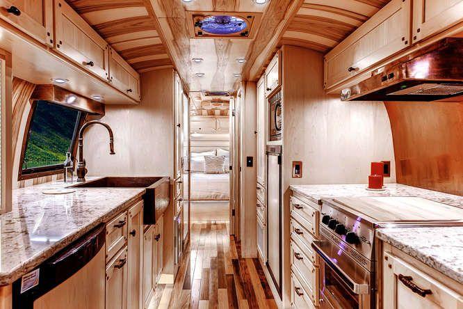 custom airstream 1956 whale tail motorhomes trailers. Black Bedroom Furniture Sets. Home Design Ideas