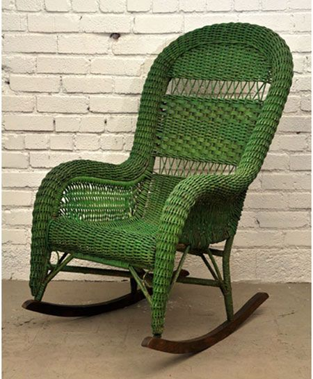 Love this vintage bohemia rocking chair!