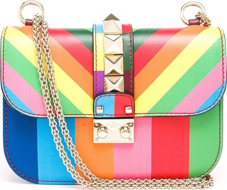 Few pieces feel fresher - or more fun - than Valentino's rainbow striped Rockstud bag, a thoroughly vibrant update on its now classic style.  | styloko.com