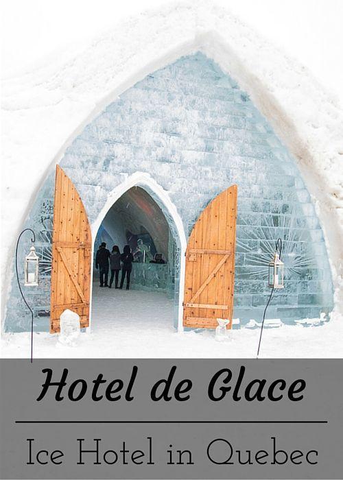Québec (Québec City) - Visiting the Hotel de Glace ice hotel in Quebec. www.casualtravelist.com
