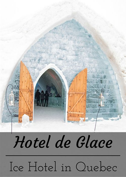 Visiting the Hotel de Glace ice hotel in Quebec. www.casualtravelist.com