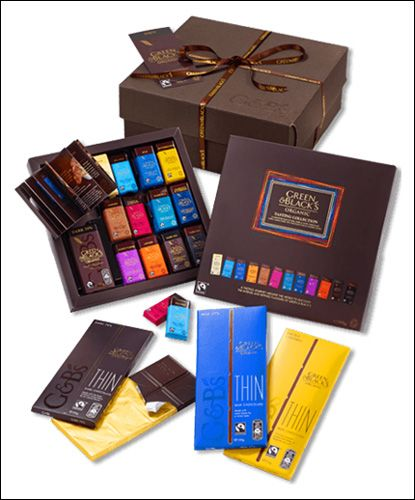 Looking for the extraordinary birthday gift for someone special in your life! Order this birthday chocolate birthday gift box full of organic and Fairtrade chocolate at just £20 from Green & Blacks.