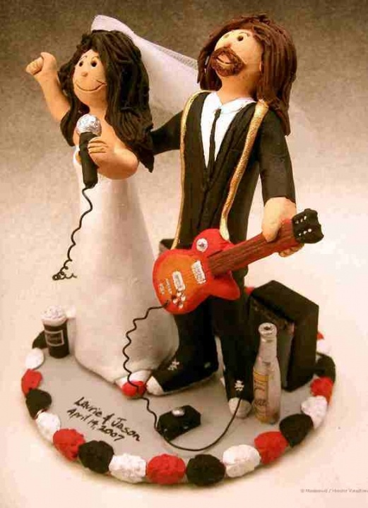 Rocker Wedding Cake Topper