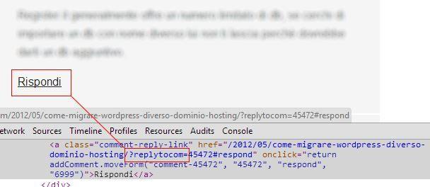 Replytocom nei commenti WordPress
