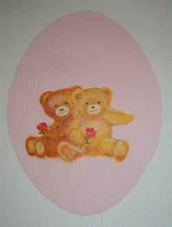 Teddybears on the wall at my granddaughter