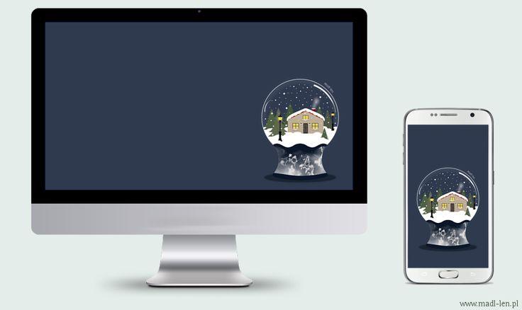 Winter wallpaper download (glass ball winter). Zimowa tapeta do pobrania.