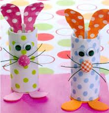 Image result for easy crafts for kids with toilet paper rolls