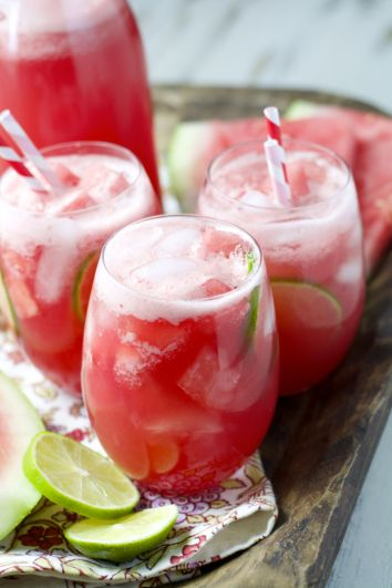 Two Ingredient Watermelon Limeade: the easiest, most refreshing drink ever.