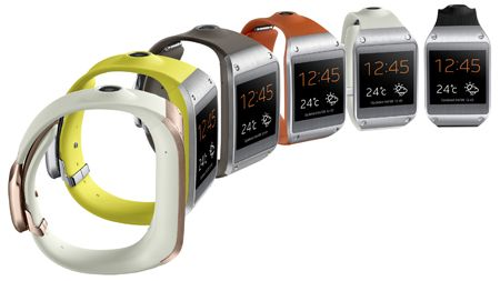 Samsung - Montre connectée Galaxy Gear - 299€  http://www.lovelidee.fr/cadeaux-hommes/1100581-samsung-montre-connectee-android-galaxy-gear-orange.html