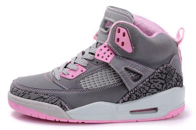 pink jordans    Women's Air Jordan Spizikes 3.5 Grey Pink [Women's Air Jordan 3 4] - $ ...