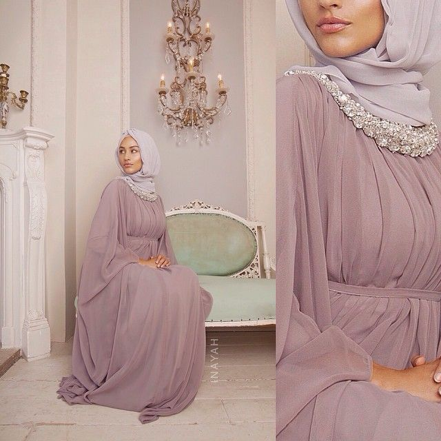 INAYAH | Mauve Oval Elegance Kaftan www.inayahcollection.com