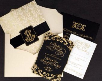 The Great Gatsby Invitation Card, RSVP Card, Reception Card, Save The Date Card, Menu Card