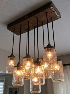Lamp. corner lamp idea, hanging from ceiling in all different lengths.