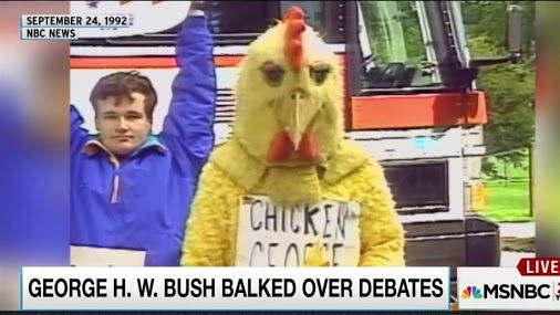 Republican presidential candidate was accused of being afraid to debate his Democratic opponent, and wonders about Donald Trump's sudden, fussy concern about the 2016 debate schedule. http://www.msnbc.com/rachel-maddow/watch/will-donald-trump-chicken-out-of-debates-736382531719?cid=eml_mra_20160802