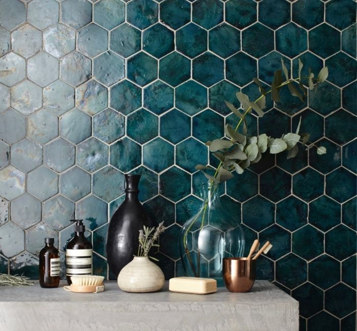 """New Terracotta, Hexagon size """"S"""", Farbe: Mystery T…"""