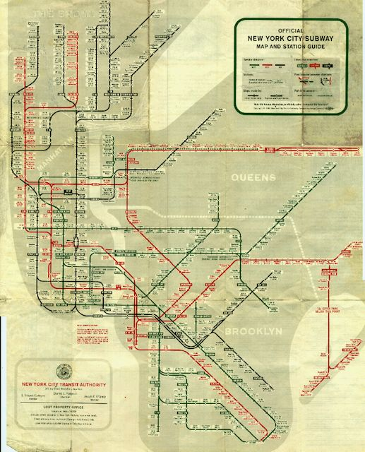 Brooklyn Subway System | ... : Time Travel with Vintage NYC Subway Maps & the Second Avenue Subway