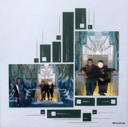 Scrapbooking layout: 2 pictures (landscape+portrait)