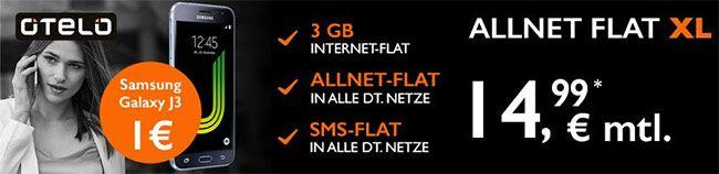 3GB OTELO Allnet Flat XL für 14,99€ + Smartphone ab 1€ http://www.simdealz.de/vodafone/otelo-xl-smartphone-deal/
